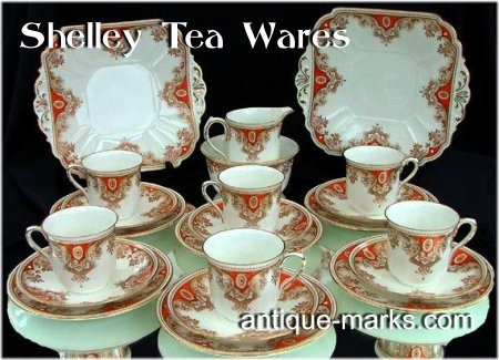 Shelley Marks c1930 - Shelley Art Deco Tea Set
