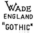 Alternate Wade Heath GOTHIC Marks c1948 to 1954
