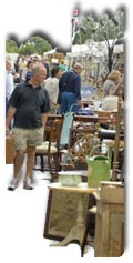 Browsing Antiques Fair and Boot Sales