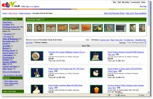 antique marks and buying antiques on internet auctions