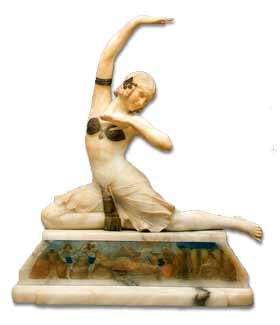 antique marks and buying antiques at auction - art deco figure