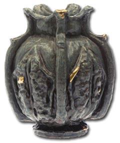 Stoneware vase designed by Georges Hoentschel