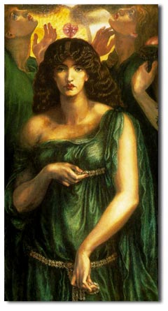 jane burden wife of william morris - painted by rosetti with whom she had an affair