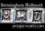 Example Birmingham Silver Hallmark - Anchor