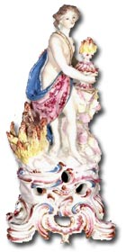 Bow porcelain allegorical figure