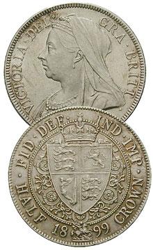 British Half Crown - Victorian 1899