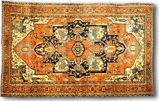 antique marks - caring for antique carpets and tapestry - heriz carpet