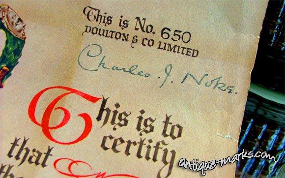 Charles Noke Signature