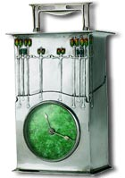 Archibald Knox 1902 - The Magnus a silver and enamel clock for liberty & co
