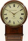 Vulliamy London No.1122. A Mahogany Cased English Dial Clock c1825