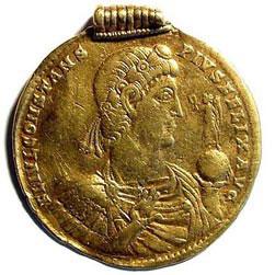 Roman Coin 9 Solidi Constans