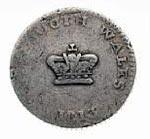 Australian 15-pence Dump Coin c1813