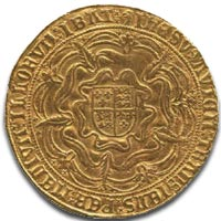 Edward VI, third period, fine sovereign