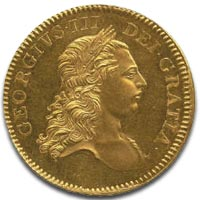 Rare George III Five Guinea Gold Coin c1770