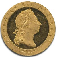 George III, Gold Halfpenny c1791 - Obverse