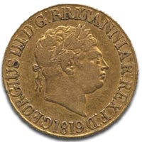 George III, Gold Sovereign, c1819 Obverse