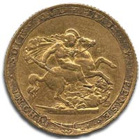 George III, Gold Sovereign, c1819 Reverse