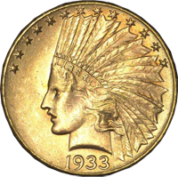Indian Head Dollar c1933
