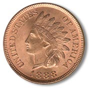 obverse side of an indian head penny