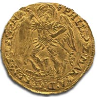 Philip and Mary Angel - Archangel Michael slaying the dragon - Obverse