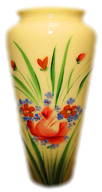 Custard Glass Vase