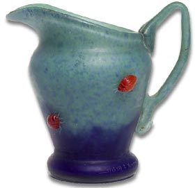 daum insect decorated jug