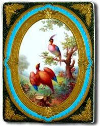 derby porcelain plaque by albert gregory