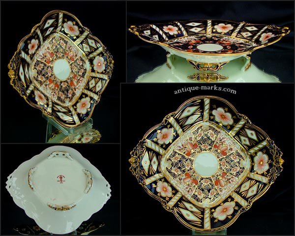 Royal Crown Derby Acorn Handled 4 Footed Dish