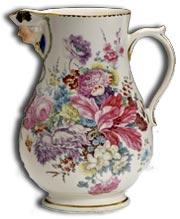 derby porcelain mask spout jug