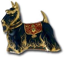Royal Crown Derby - Scottish Terrier imari paperweight