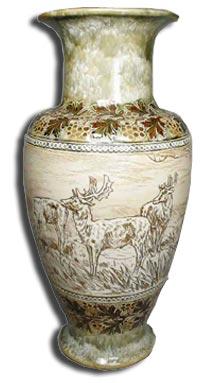 Hannah Barlow stoneware vase