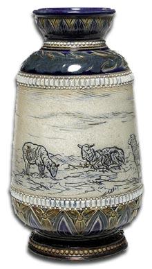 antique terms sgraffito - hannah barlow sgraffito vase