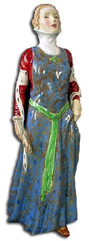 Doulton H Davies Lady figure