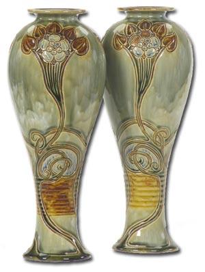 Pair Francis Pope Vases