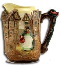 Doulton Pottery Jug - Sairey Gamp