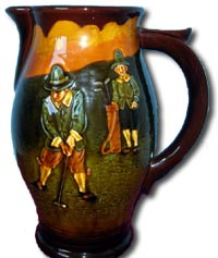 doulton - charles noke kingsware golf jug