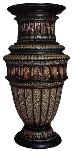 The Doulton History of England vase by George Tinworth