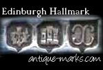 Example Edinburgh Silver Hallmark - Castle & Thistle