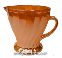 Fire King glass peach milk jug