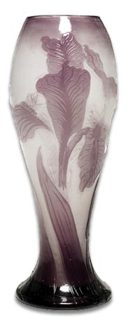 Emile Galle french art nouveau glass vase