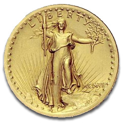 Augustus Saint-Gaudens Designed Twenty Dollar Gold Piece 1907