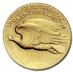 Augustus Saint-Gaudens Twenty Dollar Gold Piece 1907
