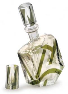Bohemian Art Deco Glass Decanter