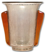 Antique Glass Terms - Leotz Crackle Glass Vase - from antique-marks.com