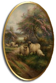 Royal Worcester porcelain plaque by harry davis