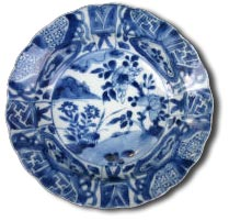 antique marks - kraak porselein klapmuts bowl, Kangxi 1662-1722