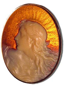 Rene lalique Glass Cameo Pendant