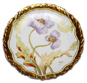 Limoges Cabinet Plate by Riquet