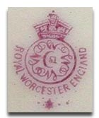 Royal Worcester Marks - Asterisk Mark 1919
