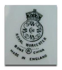 Royal Worcester Marks & Dating Worcester Porcelain -